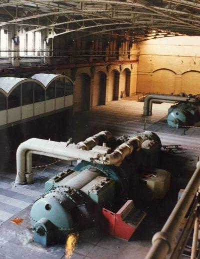 Schiecentrale - Historische Turbine hal-min